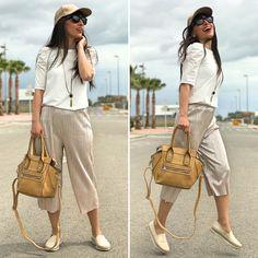 Comfy Sport - Temporada: Primavera-Verano - Tags: look, ootd, fashion, moda, blogger, stardivarius - Descripción: Look relajado con pantalones culotte #FashionOlé