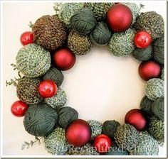 Love this Christmas wreath