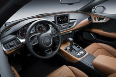 The delightful aluminum/Beaufort wood inlays are currently available in the brand-new Audi and Sportback Sexy Cars, Hot Cars, Audi A7 Interior, Audi A7 Sportback, Mercedes Suv, Audi S6, Car Magazine, Audi Cars, Contemporary Interior Design