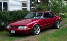 Pic Request: Wild Strawberry Metallic Notchbacks - Ford Mustang Forums : Corral.net Mustang Forum