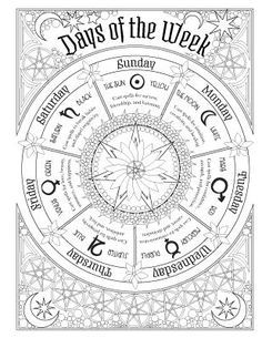 Magick Wicca Witch Witchcraft: ~ The Enchantment Cycle. Wiccan Witch, Magick Spells, Witchcraft, Real Spells, Magick Book, Coloring Books, Coloring Pages, Colouring, Adult Coloring