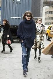 Charlotte Gainsbourg looking chic in the city.