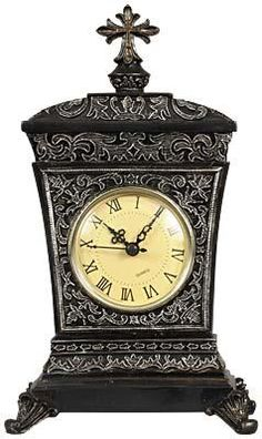 Black and Gray Swirl Tabletop #Clock. #homedecor #gifts