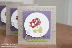 Dankeskarte Thank You Card Stampin Up Grusskarte Mini Card 010