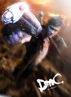 DmC Devil May Cry. Dante with Ebony and Ivory guns