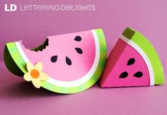 watermelon box and card