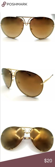New✨ Golden Tan Mirrored Aviator Sunglasses 😍✨ 🚫Price is Firm- No offers will be accepted  ✨Metal, Mirrored ✨Very well made❣   🔸Brand New✨ 🔸PRICE IS FIRM- already listed at lowest price  🔸If you want to save please look into bundling  🔸In Stock 🔸No Trades 🔸Will ship within 24 hours Monday-Friday 🚫Please -NO- Offers on items priced $10 and under AND ON SALE ITEMS‼️  🚫Serious Inquiries Only❣️  🔹Bundle one or more items from my boutique to only pay one shipping fee✨ Accessories…