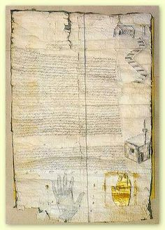 The Ashtiname of Muhammad, also known as the Covenant or Testament (Testamentum) of Muhammad, is a document which is a charter or writ ratified by the Islamic prophet Muhammad granting protection and other privileges to the Christian monks of Saint Catherine's Monastery. It is sealed with an imprint representing Muhammad's hand.