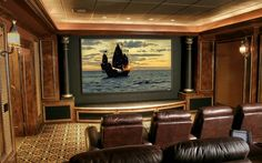 Modern home theatre ideas #KBHomes #Orlando
