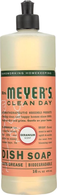 Mrs. Meyer's Clean Day Eco-Friendly Dish Soap is rich, thick and is a great grease cleaner for the kitchen. This concentrated formula for hand washing dishes includes Soap Bark Extract, another ingredient from the garden that is one of nature's best degreasers. The biodegradable, naturally-derived formula rinses clean. All you need is a squirt or two and you're on your way. #WhatIsBakingSodaUsedForInCleaning What Is Baking Soda, Baking Soda For Skin, Baking Soda Health, Baking Soda On Carpet, Baking Soda Benefits, Baking Soda Baking Powder, Baking Soda Cleaning, Baking Soda Uses, Cleaning Day
