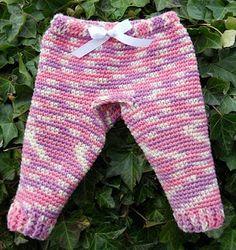 Crochet Baby Pants w/patterns (6 mo - 12 mo)