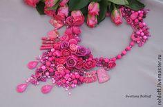"""Колье, бусы ручной работы. Ярмарка Мастеров - ручная работа Колье ,,Варенье из роз"""". Handmade."""