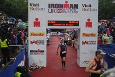 Allie Park crosses the finish line at #Ironman UK in #Bolton! #Triathlon