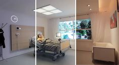 """The """"Healwell"""" lighting system by Philips simulates daylight cycles , which improves patient's sleep duration and quality."""