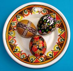 Just a stunning set of 3 Real Ukrainian Easter Eggs. Gorgeous! A must see!