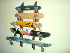 Skateboard Longboard Wall Rack Mount -- Holds 5 Boards