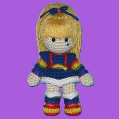 Crochet Rainbow Bright Doll Pattern