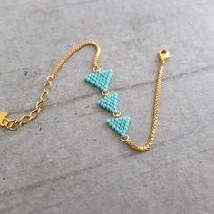 Bracelet ★ fanions ★doré à l'or fin 24k