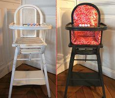 Ernest est céleste - tuto coussin chaise haute