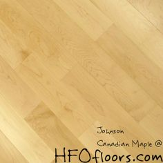 "Forever Tuff Canadian Maple 4-3/4"" smooth hardwood. Available at HFOfloors.com."