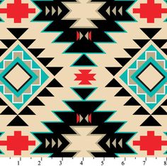 Southwest Anti-Pill Fleece Fabric fabric by the yard/David Textiles/Free shipping available/aztec fabric/tribal fabric/southwest fabric