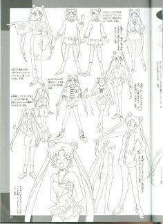 Character Model Sheet, Character Design, Moon Sketches, Sailor Moon Screencaps, Naoko Takeuchi, Sailor Moon Character, Sailor Moon Manga, Sailor Moon Crystal, Moon Design