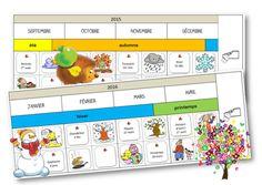 La frise des mois à compléter Teacher Websites, Petite Section, Home Schooling, Classroom Management, Diy For Kids, Montessori, Preschool, The Unit, School