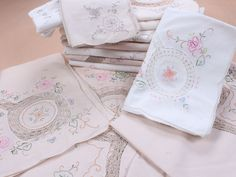 Cotton with crochet lace tablecloths