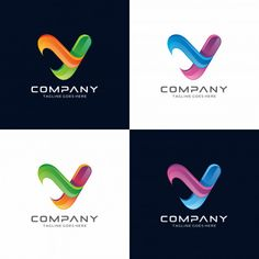 Abstract letter Y logo design for your company.