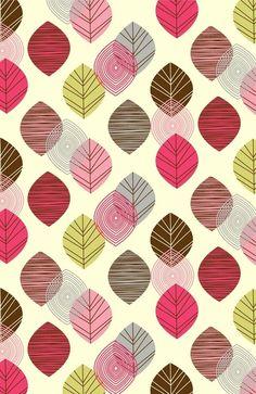 Linear leaves Art Print