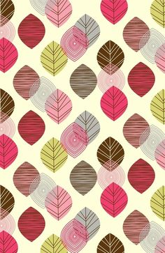 Linear leaves Art Print
