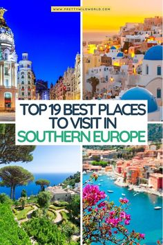 places to visit in southern Europe|best places to visit in southern Europe, europe travel guide, travel europe tips, top europe destinations, travel europe destinations, europe travel tips, europe travel places, places to visit in south Europe#europe#southerneurope #traveldestinations #traveltips #travelguide #travelhacks#bucketlisttravel #amazingdestinations #travelideas #traveltheworld Best Beaches In Europe, Top Europe Destinations, Best Cities In Europe, Europe Europe, Europe Travel Guide, Best Places To Travel, Holiday Destinations, Beautiful Places To Visit, Cool Places To Visit