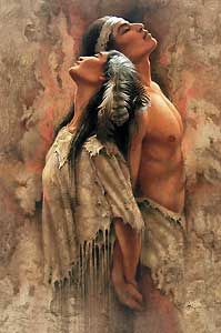 """Soul mates. Native American folklore often includes spiritual meaning and symbolism. Much attention is given to the negative role of """"squaw"""", but many stories are of love and bravery--naming mountains, seasons and songs for women. It is no surprise that, as in many warrior cultures, women are the ones who really run things in some tribes."""