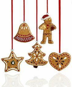 Villeroy & Boch Christmas Ornaments, Set of 5 Nostalgic Gingerbread