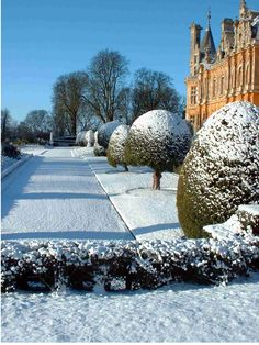 Waddesdon Manor in winter - Waddesdon, Buckinghamshire, England  (by Mike Fear)