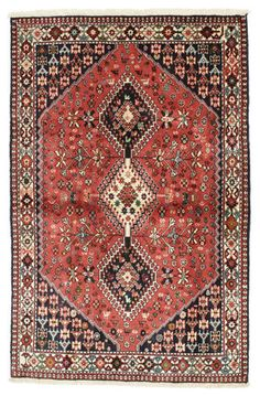 A Yalameh carpet RZZO484 156x102 from Persia / Iran and knotted by the Yalameh tribe in the Fars region, carpet available at CarpetVista.com for $574