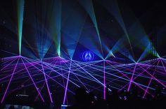 Mayday event Poland, laser light show by Mediam with 8x KVANT Spectrum 20 Watt!