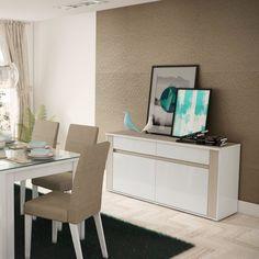 O #buffet te ajuda na #decoração da #sala e com a #organização também! #MadeiraMadeira #design