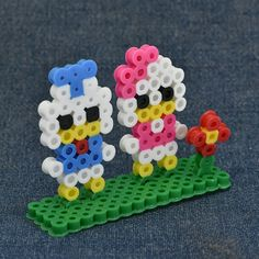 Donald and Daisy Duck perler beads by petit_beads