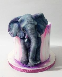55 trendy cupcakes cakes elephant – Cakes and cake recipes Crazy Cakes, Fancy Cakes, Cute Cakes, Pink Cakes, Beautiful Cake Designs, Beautiful Cakes, Amazing Cakes, Cool Cake Designs, Cool Cake Ideas