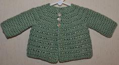 Crochet Seafoam Green Sweater for Newborn to 6 by BlissfulFiber, $16.50
