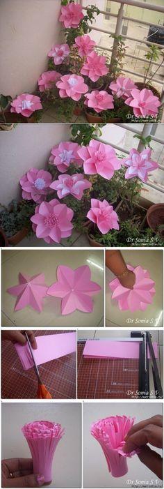 Цветы из бумаги. Мастер-класс