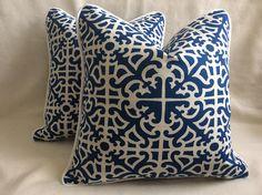 Set of Designer Pillow Covers  Williamsburg inspired