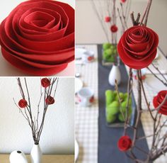 diy paper flowers. i can feel the crafty side of me getting excited!