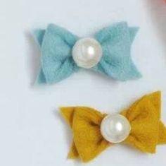 petite pearl felt bows