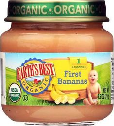 Earth's Best Organic First Bananas Baby Food Stage 1 Case of 12 Oz. GMO for sale online Banana Baby Food, One Banana, Baby Food Recipes Stage 1, Earth's Best, Food Tags, T Baby, Organic Baby, Bananas, Snacks