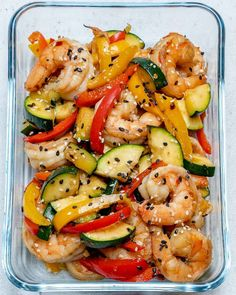 Super-Easy Shrimp Stir-fry Super-Easy Shrimp Stir-Fry for Clean Eating Meal Prep! Meal Prep Bowls, Easy Meal Prep, Healthy Meal Prep, Easy Healthy Recipes, Easy Meals, Easy Beef Stir Fry, Shrimp Stir Fry Easy, Chicken Stir Fry, Clean Eating Shrimp