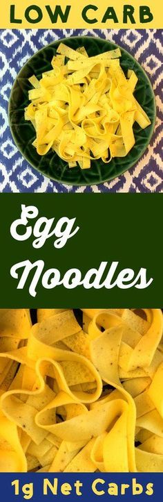 Here's a simple method to make low carb egg noodles out of eggs and cream cheese. These noodles are Atkins, Banting, THM, LCHF, Keto, Sugar Free and Gluten Free compliant. They're easy to make and delicious to eat. #resolutioneats #lowcarb #lowcarbnoodle #keto #noodles