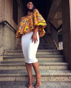 African Fashion African Print Ankara Styles For Women African Tops, African Dresses For Women, African Print Dresses, African Attire, African Wear, African Women, African Prints, African Style, African Theme