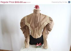 Holiday Sale Antique Victorian Top  1890s Lace by ladyscarletts, $71.25